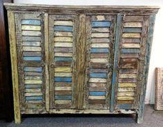 Zentrum vintage rustic distressed cabinet. Painted Furniture Inspiration.