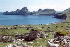St Kilda is an isolated archipelago 40 mi west-northwest of North Uist in the North Atlantic Ocean. It contains the westernmost islands of the Outer Hebrides of Scotland. The largest island is Hirta, whose sea cliffs are the highest in the United Kingdom; three other islands (Dùn, Soay & Boreray) were also used for grazing & seabird hunting. The islands are administratively a part of the Comhairle nan Eilean Siar local authority area.