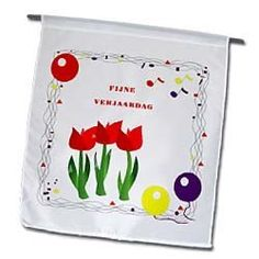 Happy Birthday In Dutch With Balloons n Tulips - 12 X 18 Inch Garden Flag by 3dRose, http://www.amazon.com/dp/B00BRFTPZS/ref=cm_sw_r_pi_dp_R2Ilsb00FM3GK
