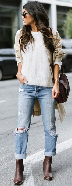 Casual Fall Street Style                                                                             Source