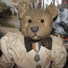 "Antique Large Mohair Long Snout Bear 23"" Circa 1900  from Stuck On Dolls - stuckondolls@gmail.com for $325.00"