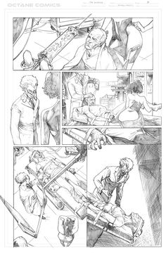 The Disease - 5 - Pencil by me - Property of Octane Comics