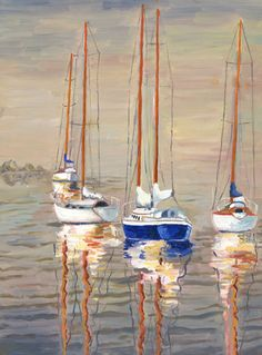 watercolour paintings of boats - Google Search