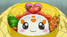 A bento that looks like Candy! Smile Precure, Episode 4