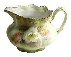 Rare Vintage RS Prussia Cider Pitcher, Popular California Poppy from stuffstore on Ruby Lane, $675