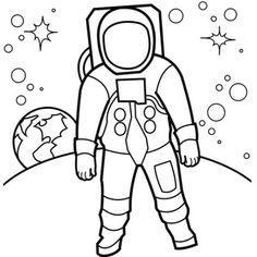 Printable Astronaut Coloring Pages - Let's look at the sky! The coloring pictures on this page are dedicated to the topic astronaut. In the category Astronauts, you will find different mo. Planet Coloring Pages, Space Coloring Pages, Moon Coloring Pages, Preschool Coloring Pages, Coloring Pages To Print, Printable Coloring Pages, Coloring Pages For Kids, Coloring Sheets, Coloring Books