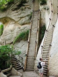Stairway to Mount Hua in China...