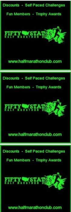 Half Marathons! 50 States Half Marathon Challenge, 50 States Endurance Challenge, 100 HALF anywhere Challenge, 500 Endurance Challenge & 7 Continents Challenge.  www.halfmarathonclub.com  #halfmarathon #halfmarathons #bucketlist #travel #adventure #running #runners #fitness
