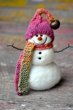 Obsession, bearcreekfelting: Needle Felted Snowman by...
