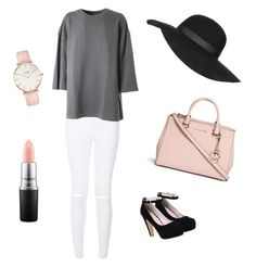 """""""Untitled #4"""" by nolwennbrc on Polyvore featuring adidas Originals, Topshop, Michael Kors, CLUSE, MAC Cosmetics, women's clothing, women, female, woman and misses"""