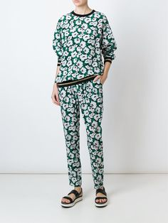 Stella McCartney floral print tapered trousers