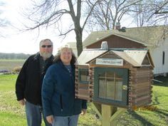 Mary Smith. Cedar Falls, IA. We first saw the little free library in Ames Ia from my reader friends Laura and Ron. The chimney is from quartz picked up out of my driveway rock. Frank and I enjoy bicycling and I love to read so it was a lovely way to beautify our community especially after the 2008 flood. As a reader I have many reader friends and there is Black Hawk Park down the road and I expect it will be used and enjoyed by bicyclists and campers alike.