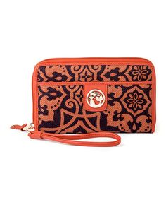 (This Event Ends in 2- Days and 13 Hours) Look at this #zulilyfind! Orange & Brown Maggioni Wrist Wallet by Spartina 449 http://www.zulily.com/?SSAID=930758&tid=acceleration_930758 #zulilyfinds