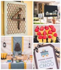Modern + Vintage Train themed birthday party via Kara's Party Ideas KaraPartyIdeas.com #trainparty #vintagetrains #karaspartyideas Printables, favors, desserts, games, and more! (2)