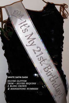 add your favorite Trim, Bling, Bows at an add'l cost By Sashanation Birthday Sash Free 40 50 60 21st Birthday Sash, 21st Birthday Outfits, 21st Birthday Gifts, Birthday Bash, Birthday Celebration, Girl Birthday, Husband Birthday, Birthday Month, Birthday Shirts