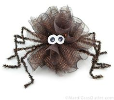 Halloween Spider -a puff made out of deco mesh