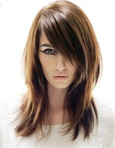 cortes de cabelos medios repicados e franja