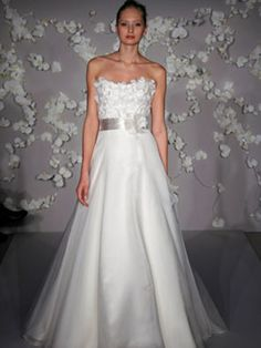 Classic A-Line Formal Bridal Gown