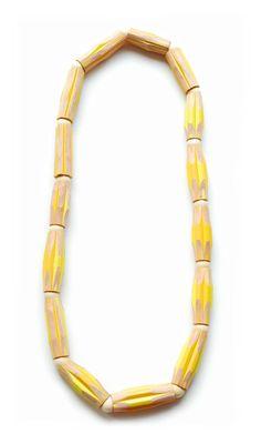 Iris Tsante  Necklace: Chiquita 2010  Pencils, wood, threads  35 cm length