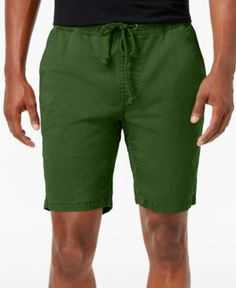 American Rag Men's Classic-Fit Stretch Solid Drawstring Shorts, Only at Macy's  - Green 2XL