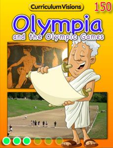Olympia and the Olympic Games digital book for teacher use in KS1 and KS2 classes
