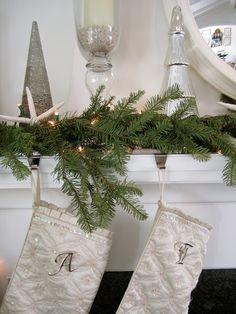classic • casual • home: White Christmas decor