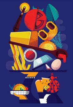 Barilla on Behance Flat Illustration, Food Illustrations, Digital Illustration, Behance, Graphic Design Print, Art Graphique, Freelance Illustrator, Book Cover Design, Dog Toys