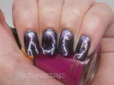 black light lightning picture | The Lace Figure: Cute Nail Ideas