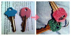 DIY Glitter Painted Keys