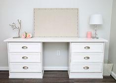 One Room Challenge Week Five - Ikea Rast Dresser Desk - Mobel Ideer Desk Dresser Combo, Ikea Rast Dresser, Small Dresser, Dressers, Dresser Drawers, Nightstand, Diy Crafts Desk, Craft Desk, Diy Desk