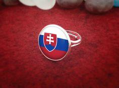Handmade Silver Slovakia Ring Slovakian Country Flag