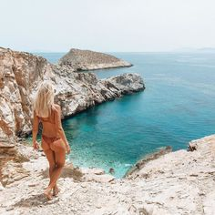 Secret coves of Ios safe to say I'm Greece obsessed Swim by @gypsy_beach by gypsea_lust