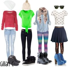 """4 SIMPLE OUTFIT IDEAS FOR HANGING OUT WITH FRIENDS;"" by hipster-tips ❤ liked on Polyvore"
