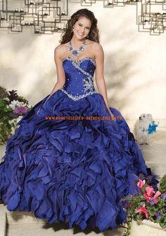 Extravagante Abendkleid Ballkleid für Prinzessin aus Satin online 2013
