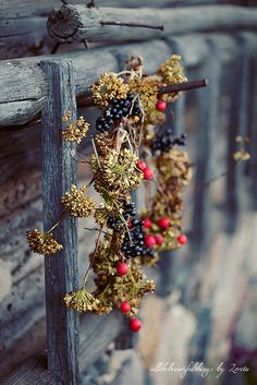 berry wreath.