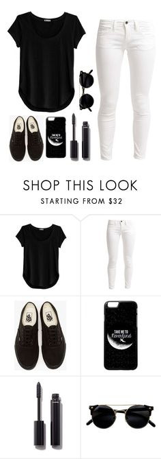 """black and white"" by tryn11 ❤ liked on Polyvore featuring Cosabella, Benetton, Vans and Chanel"