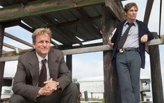 """Woody Harrelson, left, and Matthew McConaughey in """"True Detective,"""" on HBO…"""