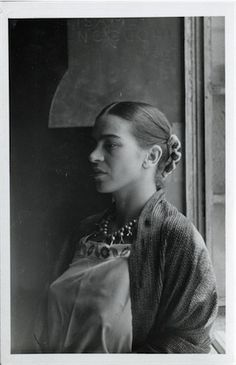 Portrait of Frida Kahlo found in Isamu Noguchi's archives, ca. 1930's