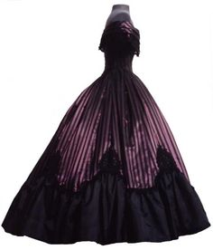 Side view ball gown 1860