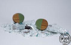Green Stud Earrings Olive Green Earrings Wood by TheWoodArtShop Wooden Earrings, Green Earrings, Getting Wet, Earring Backs, Etsy Earrings, Olive Green, Hand Painted, Jewelry, Wood Earrings