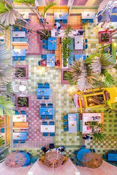 Tropical & Colorful Madero Café by Taller KEN – Fubiz Media