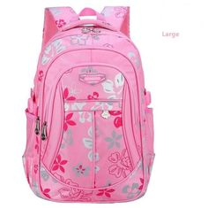 New Floral School Bags For Girls Backpack Kids Schoolbag Primary School  Backpack Quality Nylon Warterproof Bag Women Backpack 9fb374ef9d76a
