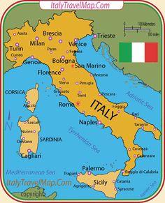 Mapa dos Melhores Destinos de Itlia e Regies Italianas  Nice