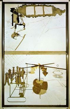 """Famous Artist Birthdays! Marcel Duchamp was a revolutionary French-American artist who changed and challenged the conventions of the art historical tradition with his Conceptual artworks such as the """"readymade"""".   The Bride Stripped Bare by Her Bachelors, Even, or The Large Glass (1915-1923)  20th Century Masterworks available for purchase through Robin Rile Fine Art Contact info@robinrile.com"""