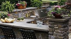 18 best Barbecue area images on Pinterest | Gardens, Outdoor ... Vener Brick Outdoor Kitchen And Bar Ideas Html on