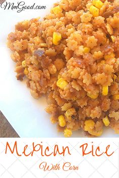A super easy recipe for homemade Mexican Rice, perfect for Cinco de Mayo or any Mexican themed dinner. This recipe comes out perfect every time | MmGood.com