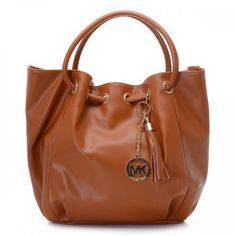 e30930fdf6b4 Michael Kors Smooth Outlook Logo Medium Brown Drawstring Bags Michael Kors  Outlet