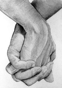 Buy Hands Drawings Art at ArtPal , Dark Art Drawings, Pencil Art Drawings, Art Drawings Sketches, Holding Hands Drawing, Hand Kunst, Romantic Drawing, Artwork Online, Sell Artwork, Couple Drawings