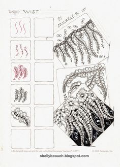 Wist ~ Zentangle #tangle by Michelle Beauchamp #CertifiedZentangleTeacher