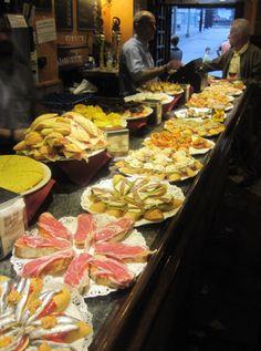 Enjoy some mouthwatering tapas in San Sebastian, by joining an evening txikiteo (Basque-style tapas crawl).